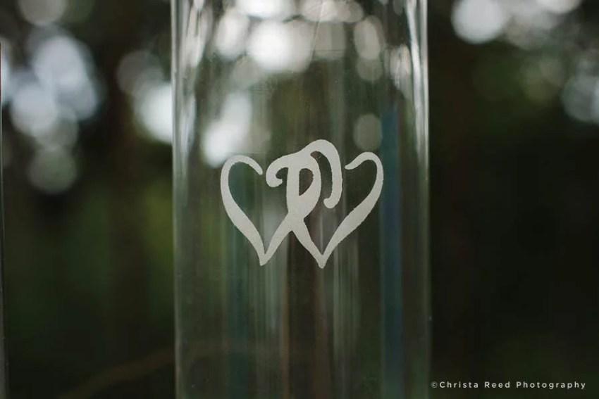 hearts on sand ceremony vase