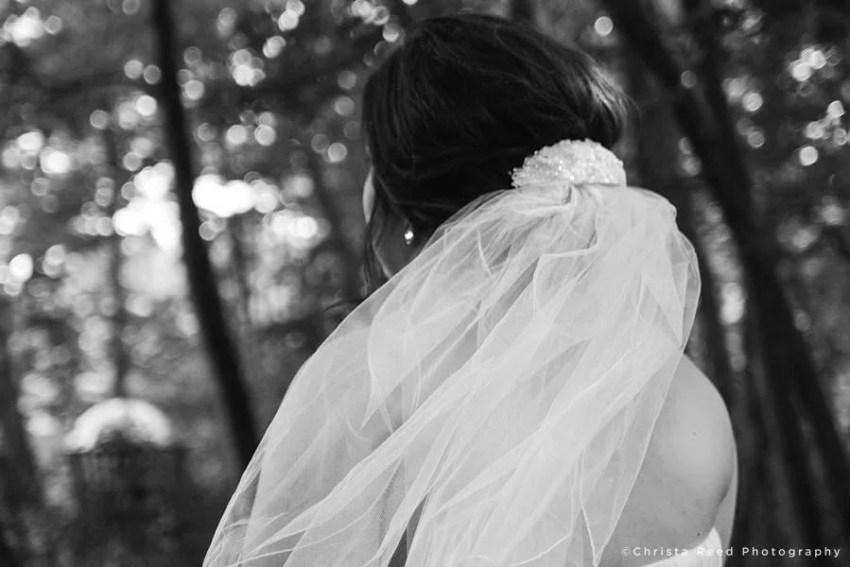 close up of veil