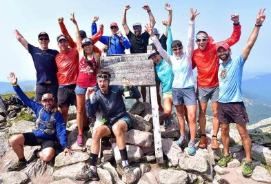 Scott celebrating with his crew on Katahdin
