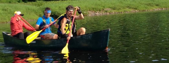 Scott Paddling the Kennebec - Photo by Krissy Moehl