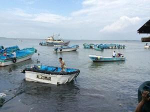 Fishing boats in Posorjas