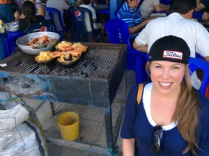 Christa Wojo at Cevicheria Sabor Manaba La Playa Ecuador