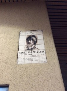 Plaque of Francisco Orellana in Guayaquil