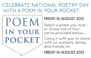 Put a poem in your pocket