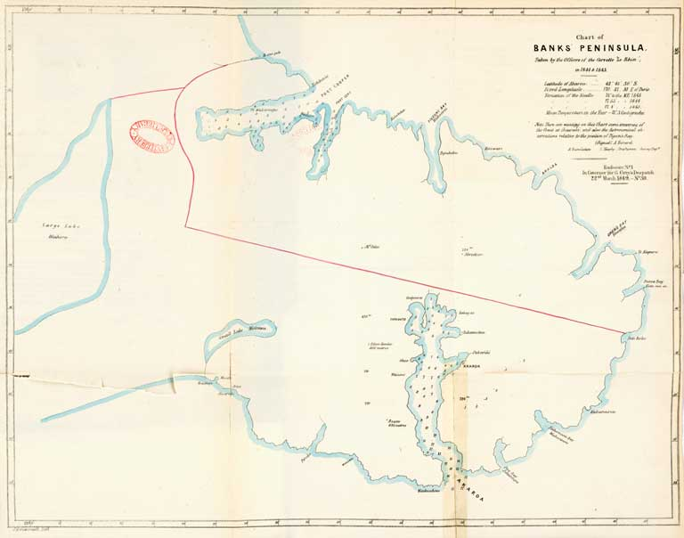 Chart of Banks' Peninsula. 1850