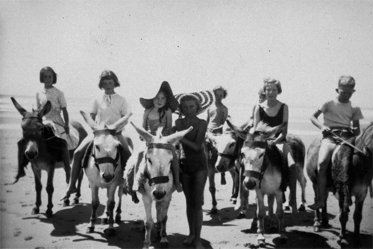 Donkey rides on New Brighton beach [195-] CCL Photo Collection 22, Img02321