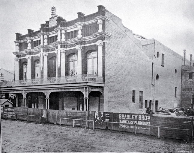 Exterior view of the Theatre Royal, Christchurch, prior to opening [1907]