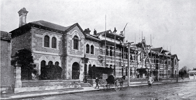 Hereford St Police Station, 1906