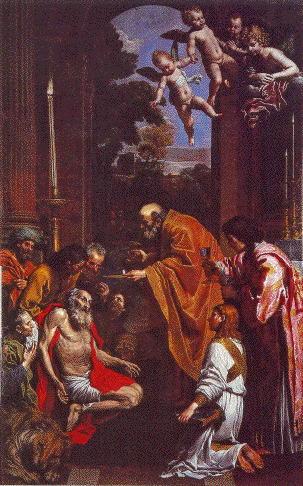 Domenichino, Last Communion Of St Jerome
