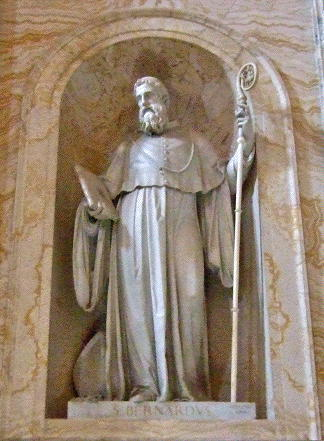 Saint Bernard statue, Basilica of Saint Paul Outside the Walls