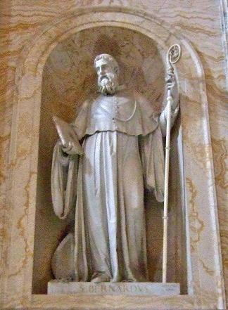 Saint Bernard statue, Basilica of Saint Paul Outside the Walls