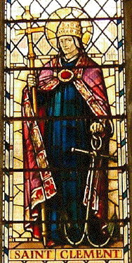 St Clement window, St Olave's Hart Street, London