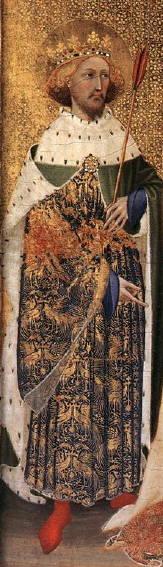 Wilton Diptych, St Edmund
