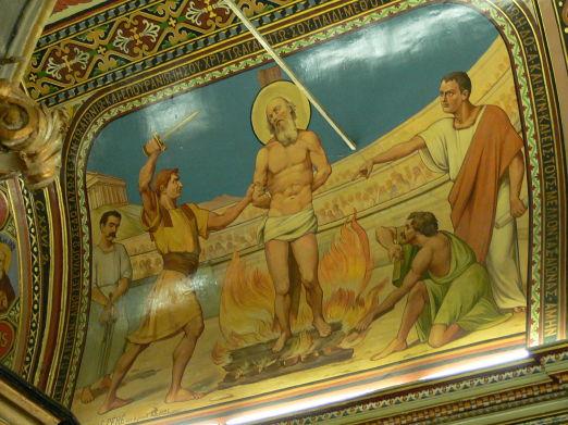 Martyrdom of St Polycarp, Church of St Polycarp, Izmir