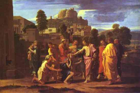 Poussin, Jesus Healing the Blind of Jericho