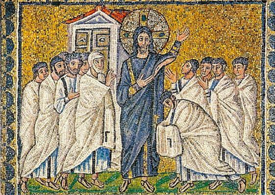 Risen Jesus appears to disciples, Sant'Apolinnare Nuovo