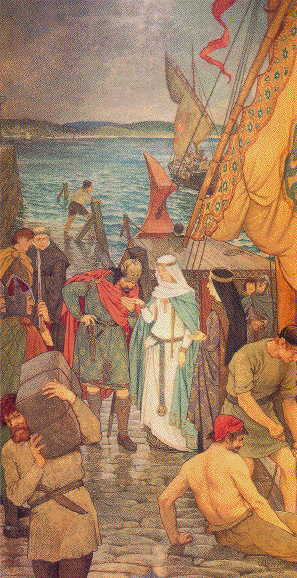 William Hole, The Landing of St. Margaret at Queensferry