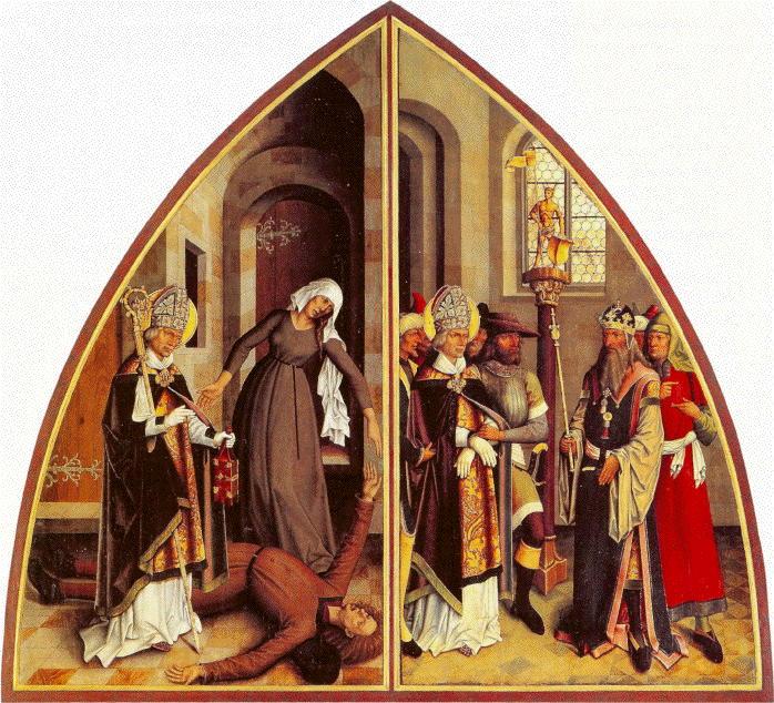 Zeitblom, St. Valentine Heals and Rebukes