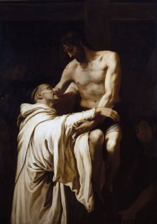 F. Ribalta, Christ Embracing St. Bernard