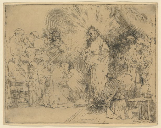 Rembrandt, Christ Appearing to the Apostles