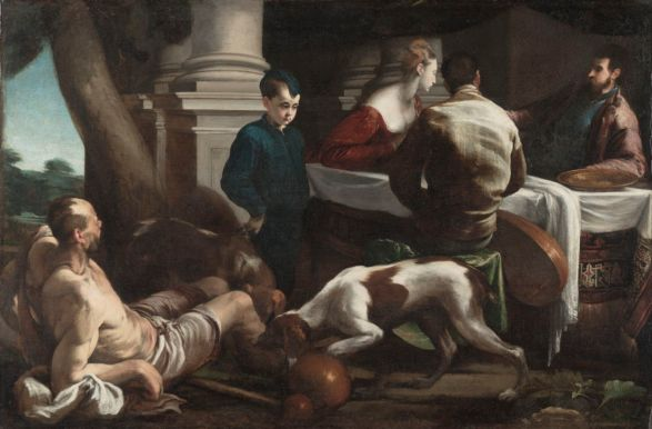 Jacopo Bassano, The Rich Man and Lazarus