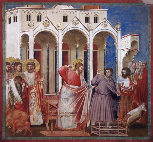 Giotto, Expulsion of Moneychangers from the Temple