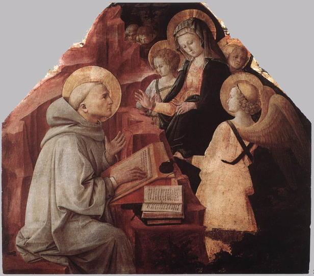 Fra Filippo Lippi, The Virgin Appears to St. Bernard