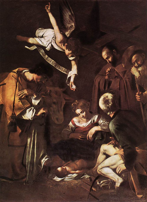 Caravaggio, Nativity with St. Francis and St. Lawrence