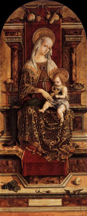 Carlo Crivelli, Virgin and Child from Camerino Triptych