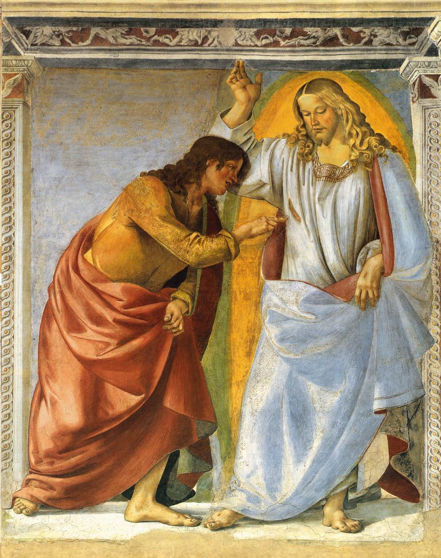 Signorelli, Christ and Doubting Thomas