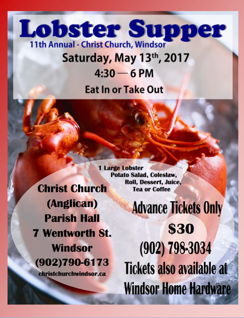 Lobster Supper 2016 poster