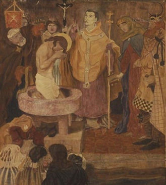 Ford Madox Brown, Baptism of St. Oswald