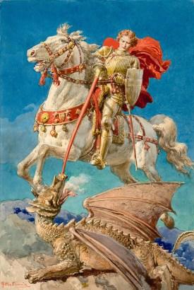 Fortunino Matania, St. George Slays the Dragon