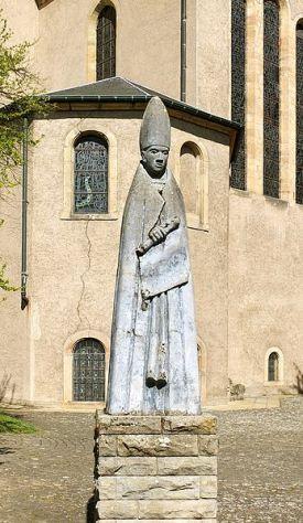 St. Willibrord statue, Echternach, Luxembourg