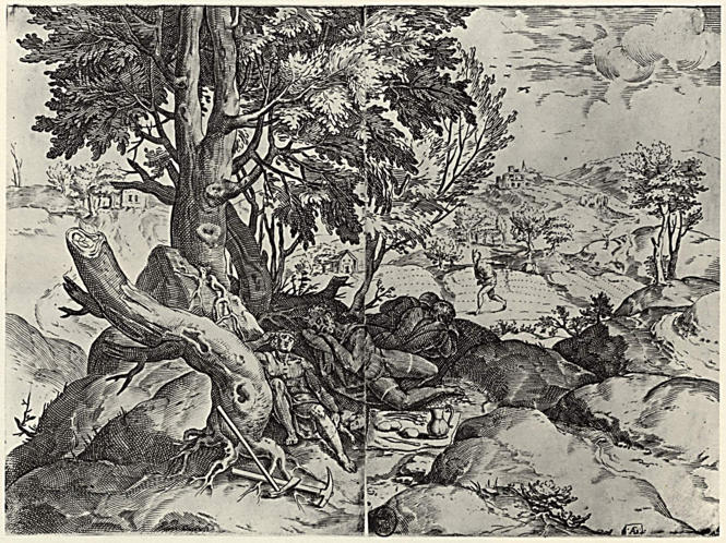 Agostino Carracci, The Parable of the Devil Sowing Weeds