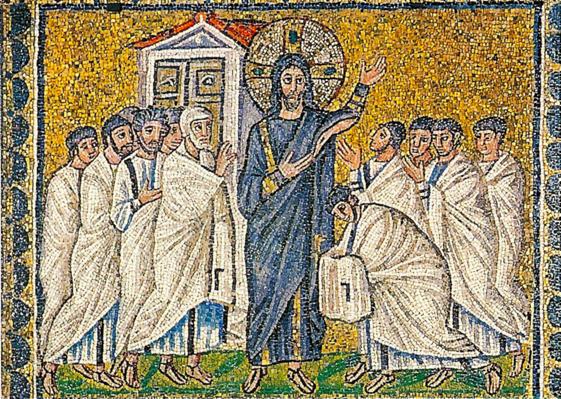 Sant'Apollinare Nuovo, The risen Jesus appears to the disciples