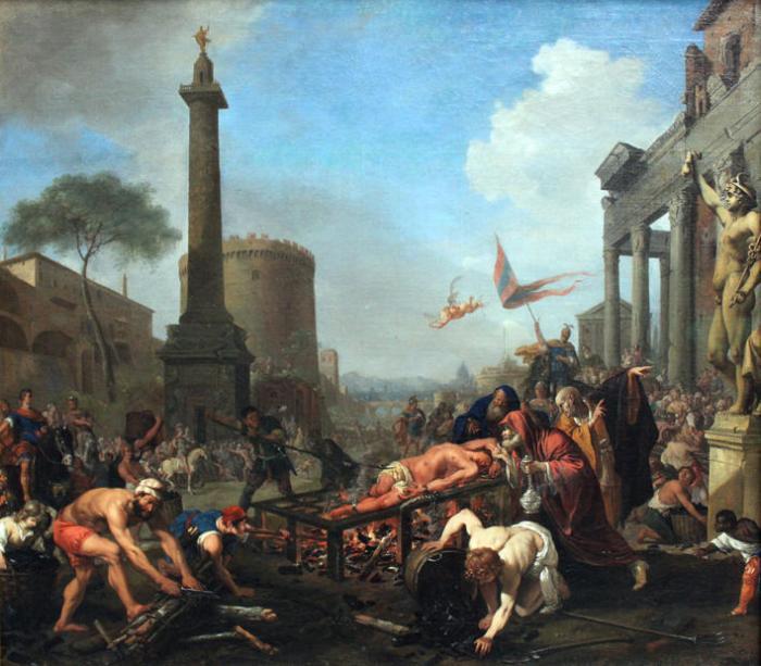 Bartholomeus Breenbergh, The Martyrdom of Saint Lawrence