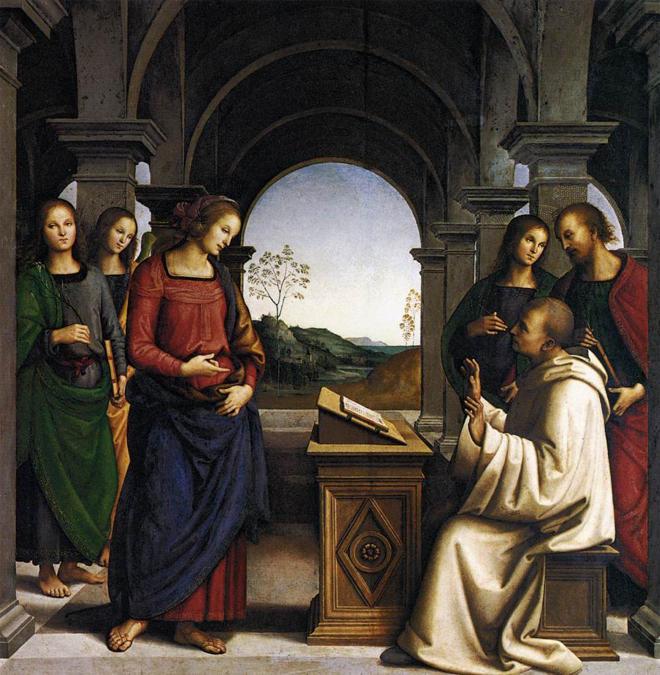 Pietro Perugino, The Vision of St. Bernard