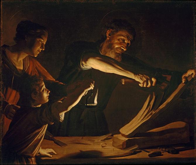 Gerrit van Honthorst, The Holy Family in the Workshop of St. Joseph
