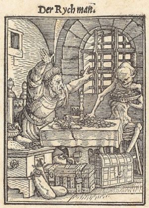 Hans Holbein the Younger, Death and the Miser