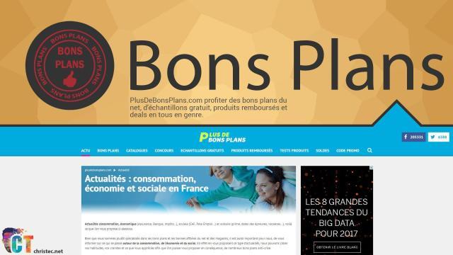 Astuce bons plans, découverte du site Internet ( plusdebonsplans.com )