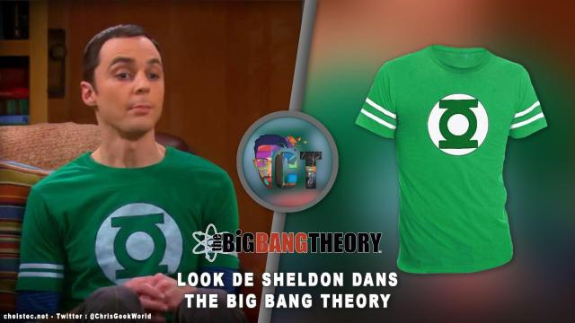 Look de Sheldon Cooper dans The Big Bang Theory ( t-shirt green lantern )