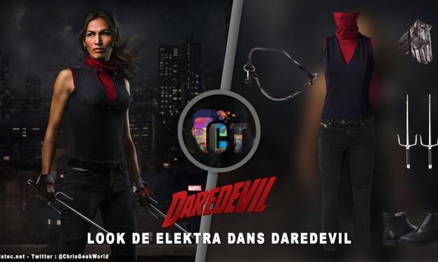 Look de Elektra dans Daredevil ( jeans Allsaints Biker cropped et Masked Assassin Top )