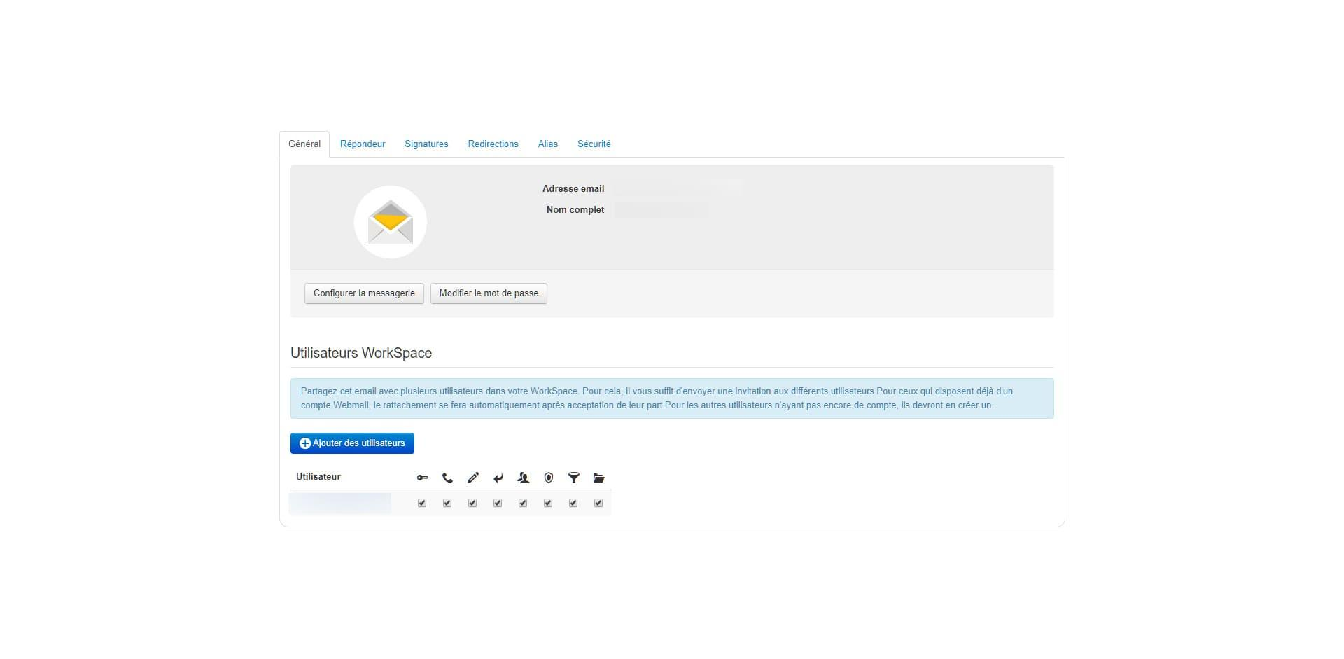 Before-Infomaniak interface beta Mail 2