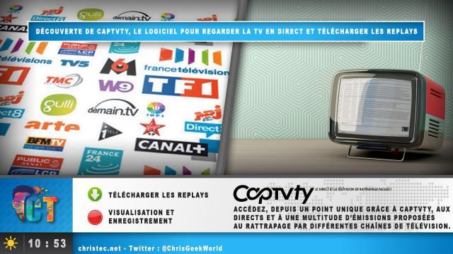 Découverte de Captvty, le logiciel pour regarder la TV en direct et télécharger les replays
