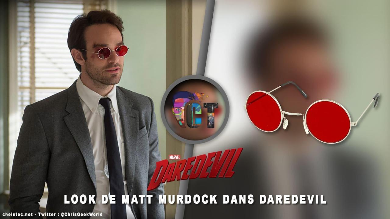 Look de Matt Murdock dans daredevil ( lunettes avec châssis argenté et lentille rouge )