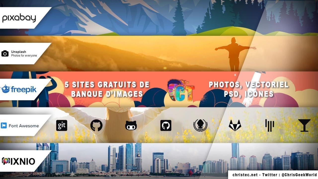5 sites gratuits de banque d'images pour télécharger des photos, des fichiers vectoriels, des fichiers PSD et des icônes