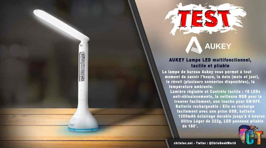 image en-tête Test Lampe pliable Aukey