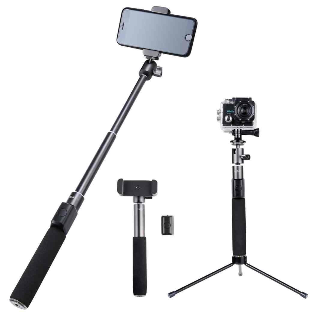 image Test de la perche à selfie Bluetooth avec trépied et télécommande d'Aukey 12