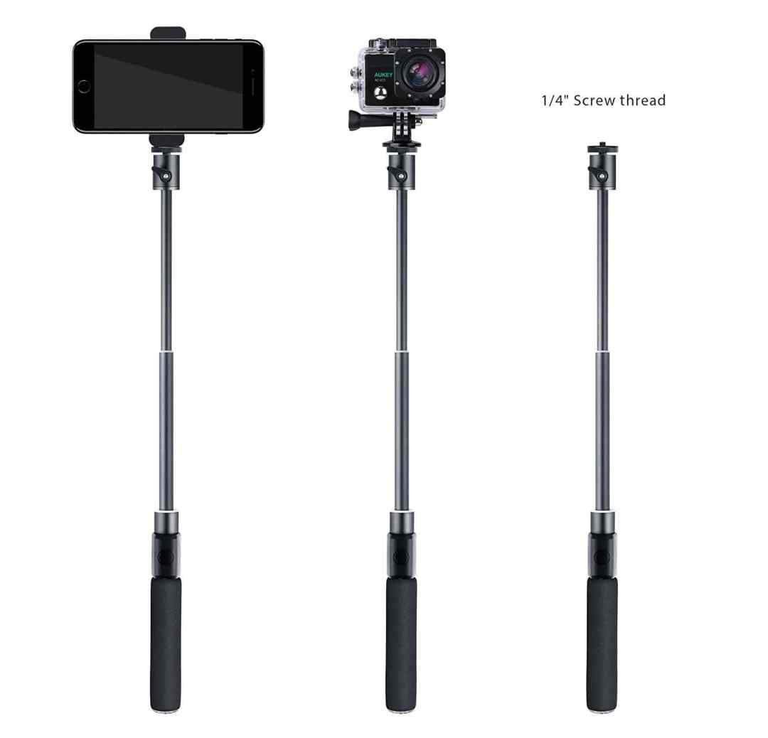 image Test de la perche à selfie Bluetooth avec trépied et télécommande d'Aukey 15